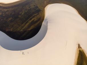 レンソイス砂漠の砂丘:空撮の写真素材 [FYI03418539]