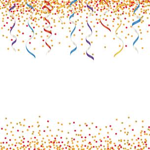カラフル ラメ リボン 背景のイラスト素材 [FYI03418590]