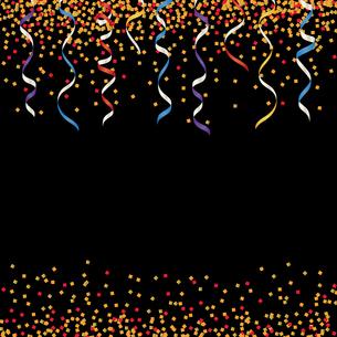 カラフル ラメ リボン 背景のイラスト素材 [FYI03418591]