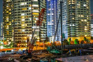 横浜・みなとみらいの工事現場の写真素材 [FYI03418975]
