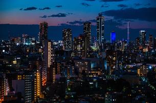 文京シビックセンターからの夕景(池袋方面)の写真素材 [FYI03419032]