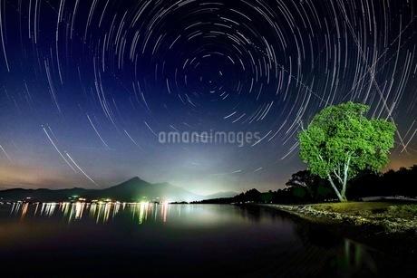 猪苗代湖 天神浜 日本 福島県 猪苗代町の写真素材 [FYI03419126]