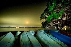 猪苗代湖 天神浜 日本 福島県 猪苗代町の写真素材 [FYI03419129]