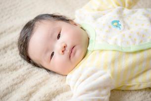 見つめる赤ちゃんの写真素材 [FYI03419282]