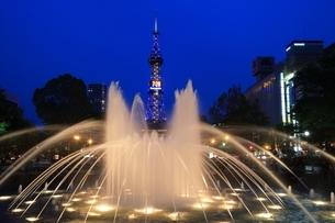 札幌 夜の大通公園の写真素材 [FYI03419316]
