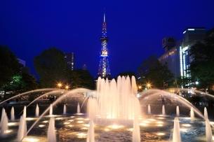 札幌 夜の大通公園の写真素材 [FYI03419319]