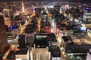札幌市街の夜景の写真素材 [FYI03419321]