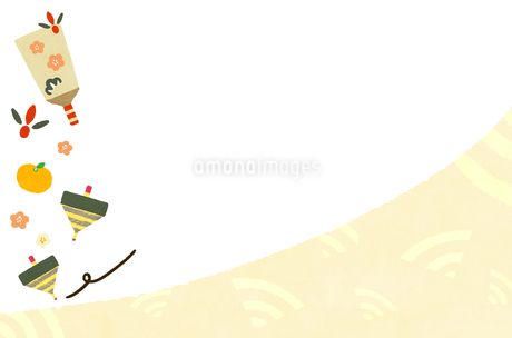手描き風 お正月 背景素材 イラストのイラスト素材 [FYI03419449]