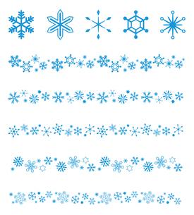 雪の結晶アイコン ラインセットのイラスト素材 [FYI03419453]