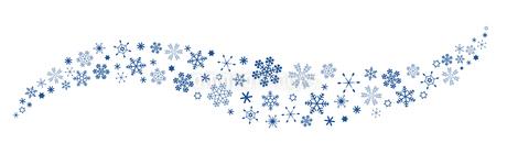 雪の結晶 波打つスノーフレーク のイラスト素材 [FYI03419457]