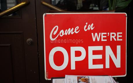 店の入り口の写真素材 [FYI03419645]