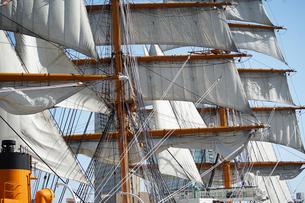帆船の帆の写真素材 [FYI03419670]