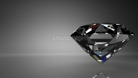 Diamond on black text spaceのイラスト素材 [FYI03420090]