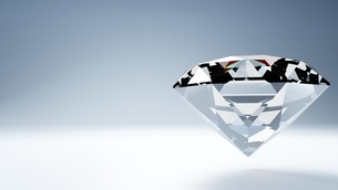 Diamond on white text spaceのイラスト素材 [FYI03420092]