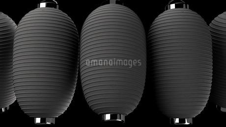 Black paper lanterns on black backgroundのイラスト素材 [FYI03420360]