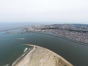 利根川の河口の町の写真素材 [FYI03420485]