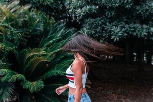 messy hairの写真素材 [FYI03420623]