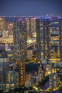 カレッタ汐留からの東京の夜景の写真素材 [FYI03420652]