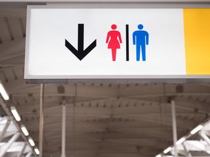 駅のトイレの標識の写真素材 [FYI03420741]
