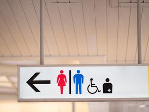 駅のトイレの標識の写真素材 [FYI03420743]