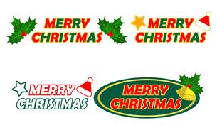 クリスマス ロゴ セットのイラスト素材 [FYI03420947]