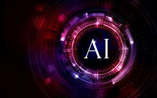 イラスト素材: 脳と人工知能イメージ素材赤レッド、AIのイラスト素材 [FYI03421064]