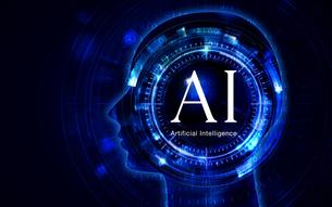 イラスト素材: 人工知能ブルーイメージ、AIのイラスト素材 [FYI03421066]