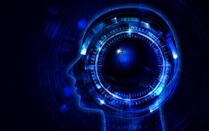 イラスト素材: 人工知能ブルーイメージ、AIのイラスト素材 [FYI03421067]