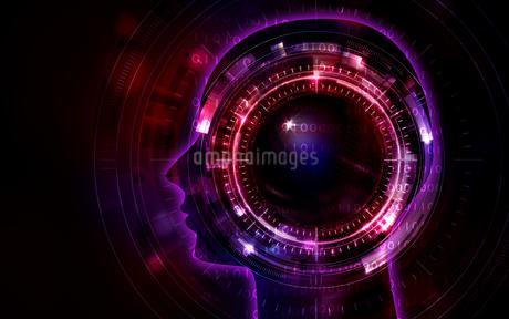 イラスト素材: 人工知能レッドイメージ、AIのイラスト素材 [FYI03421069]