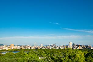 福岡城より福岡市街を望む3の写真素材 [FYI03421149]