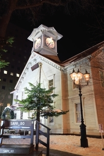 札幌時計台 イルミネーションの写真素材 [FYI03421416]