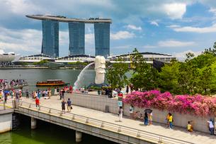 シンガポールのマリーナ・ベイの写真素材 [FYI03421475]