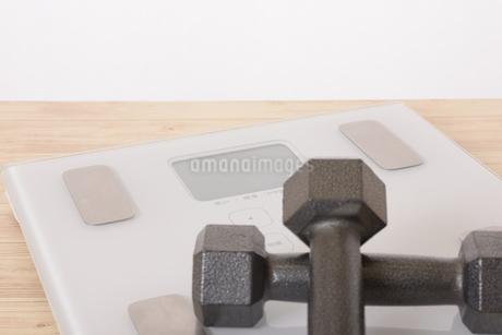 体重計とダンベルの写真素材 [FYI03421608]