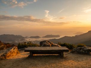 展望台からみる小豆島の秋の寒霞渓の写真素材 [FYI03421613]
