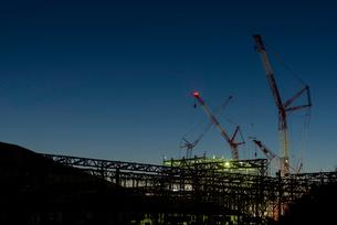 建設途中の火力発電所の写真素材 [FYI03421916]