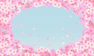 桜のフレームのイラスト素材 [FYI03422128]