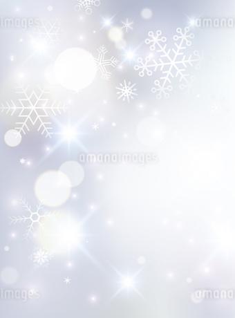 光と雪の結晶 背景のイラスト素材 [FYI03422637]