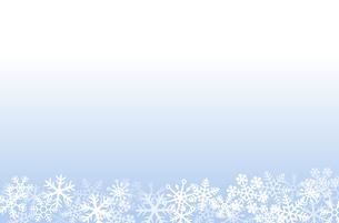 雪の結晶 背景素材のイラスト素材 [FYI03422638]