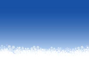 雪の結晶 背景素材のイラスト素材 [FYI03422639]