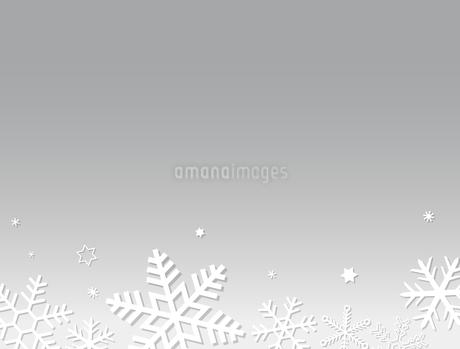 雪の結晶 背景素材のイラスト素材 [FYI03422640]