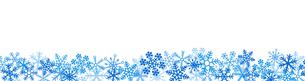雪の結晶 スノーフレークのボーダーのイラスト素材 [FYI03422643]