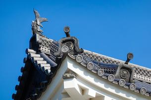 京都 二条城(離宮二条城)の屋根瓦の写真素材 [FYI03422802]