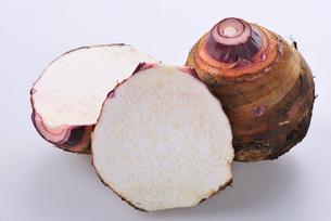 里芋(赤芽)の写真素材 [FYI03422989]