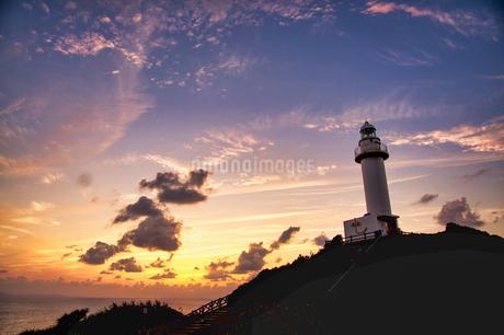 御神岬の夕焼けの写真素材 [FYI03423222]
