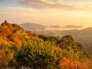 香川県の小豆島の秋の寒霞渓の写真素材 [FYI03423580]