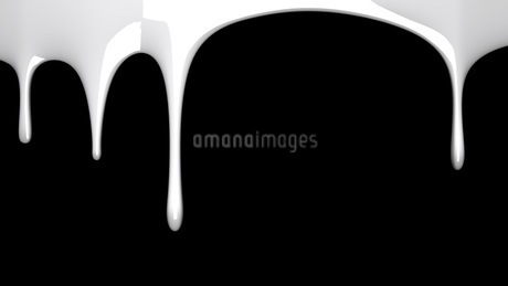 White liquid on black backgroundのイラスト素材 [FYI03423979]