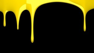 Yellow liquid on black backgroundのイラスト素材 [FYI03423982]