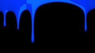 Blue liquid on black backgroundのイラスト素材 [FYI03423983]