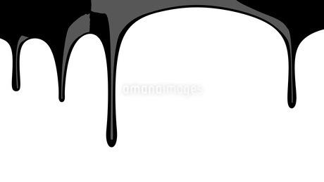 Black liquid on white backgroundのイラスト素材 [FYI03423991]