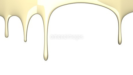 Beige liquid on white backgroundのイラスト素材 [FYI03423992]